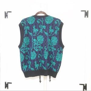 unknown Sweaters - Women's XL Sweater Vest Black and Green